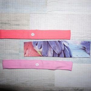 Bundle of Headbands- 2 Lululemon and 1 Violet Love